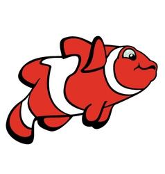 Cartoon clown fish vector