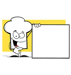 Chef Hat Guy With A Blank Sign vector image