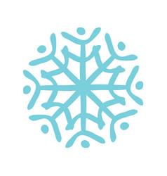 christmas snowflake icon design vector image
