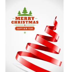 Christmas tree from ribbon vector