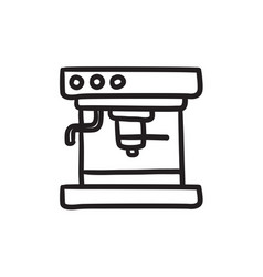 Coffee maker sketch icon vector
