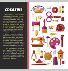 Creative activity hoband handmade craft tools vector