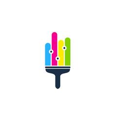 Data paint logo icon design vector