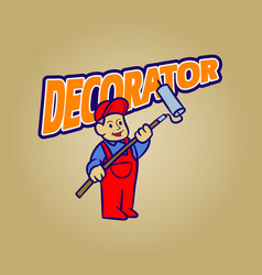 Decorator retro cartoon vector