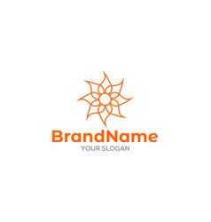 Elegant mandala logo design vector