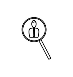 employee search icon vector image
