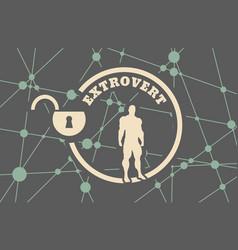Extrovert metaphor icon vector