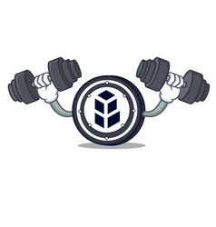 Fitness bancor coin character cartoon vector