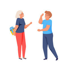 flat happy people vector image