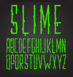 Font green slime hand drawn vector