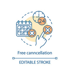 Free cancellation concept icon vector