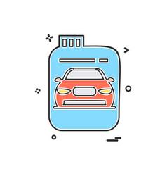 Fuel can gas can car icon design vector