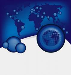 Global design background vector