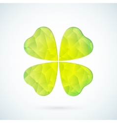 Green geometric clover background vector image