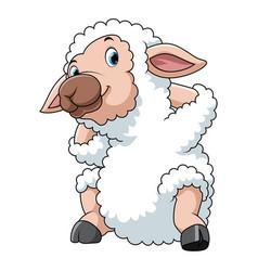 Happy cartoon sheep vector
