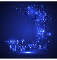 happy new year holiday sparkling background vector image