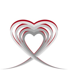 Heart made of stripes vector