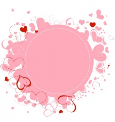 hearts frame vector image