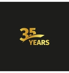 Isolated abstract golden 35th anniversary logo on vector