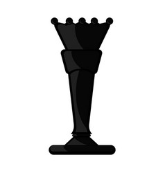 Isolated queen chess piece icon vector