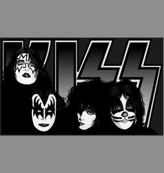 Kiss dynasty vector