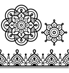 mandala bohemian art and indian seamless pattern vector image