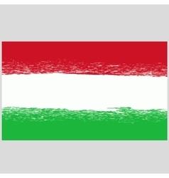 National Hungary Grunge Flag vector image