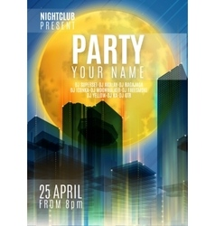 Night Party - Flyer or Cover Design Background vector image