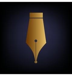 Pen sign Golden style icon vector
