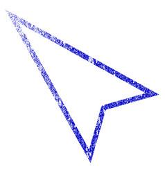 Pointer left up grunge textured icon vector