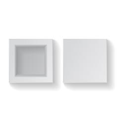 realistic empty square white cardboard box vector image