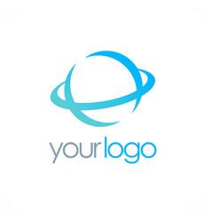 Round globe logo vector