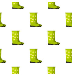 Rubber boots pattern flat vector