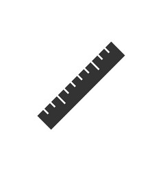 Ruler black icon vector
