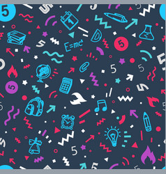 seamless pattern wrapping paper design template vector image