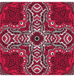 Seamless red pattern of spirals swirls vector