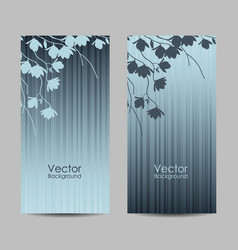 Set vertical banners with magnolia branches vector