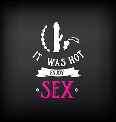 Sex shop logo and badge design vector image