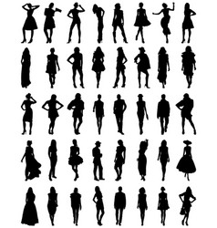 silhouettes fashion vector image