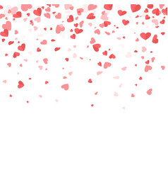 Small paper valentines day hearts that fall down vector