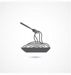 spaghetti pasta icon vector image
