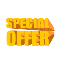 special offer template lettering symbol business vector image