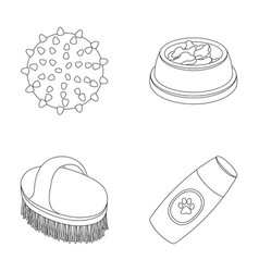 the ball feed shampoo and other zoo store vector image