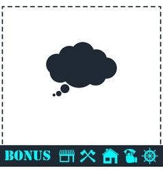Thought bubble icon flat vector
