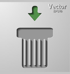Trash can over white vector