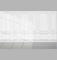 Wall with sunlight luxury apartments vector
