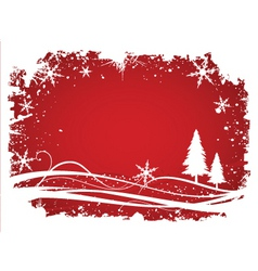 Wintry background vector