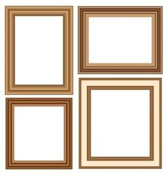 Wooden frames isolated on white vector