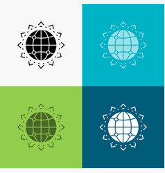 World globe seo business optimization icon over vector