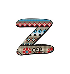 Z letter small vector